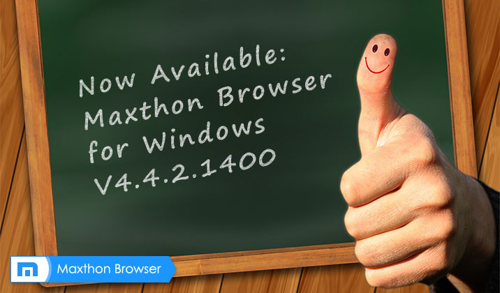 Maxthon Cloud Browser for Windows V4.4.2.1400 Beta has been released!