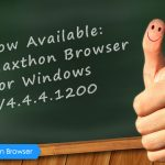 Maxthon Cloud Browser for Windows V4.4.4.1200 Beta is Released!