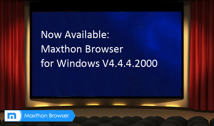 Maxthon Cloud Browser V4.4.4.2000 with AdBlock Plus is officially released!