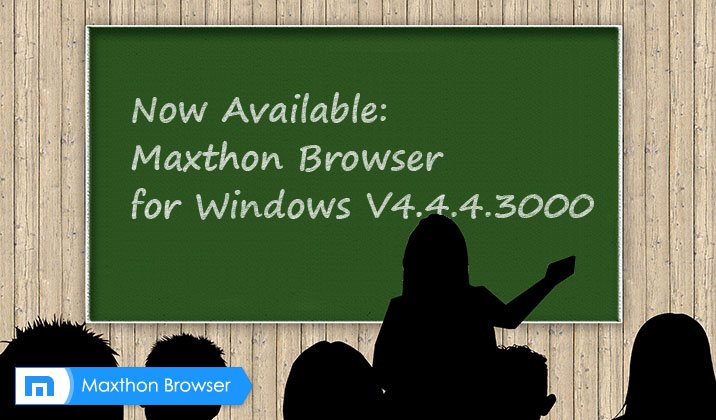 The Newest official version of Maxthon Cloud Browser with AdBlock Plus V4.4.4.3000 has been RELEASED!