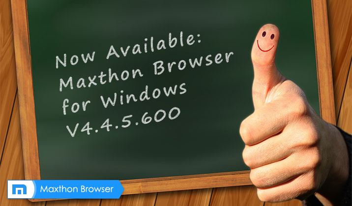 Maxthon Cloud Browser for Windows V4.4.5.600 Beta Released!