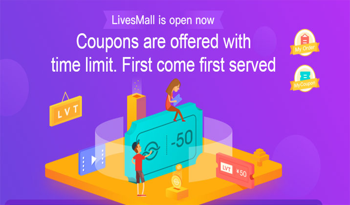 LivesMall is online now! Coupons are offered with time limit!
